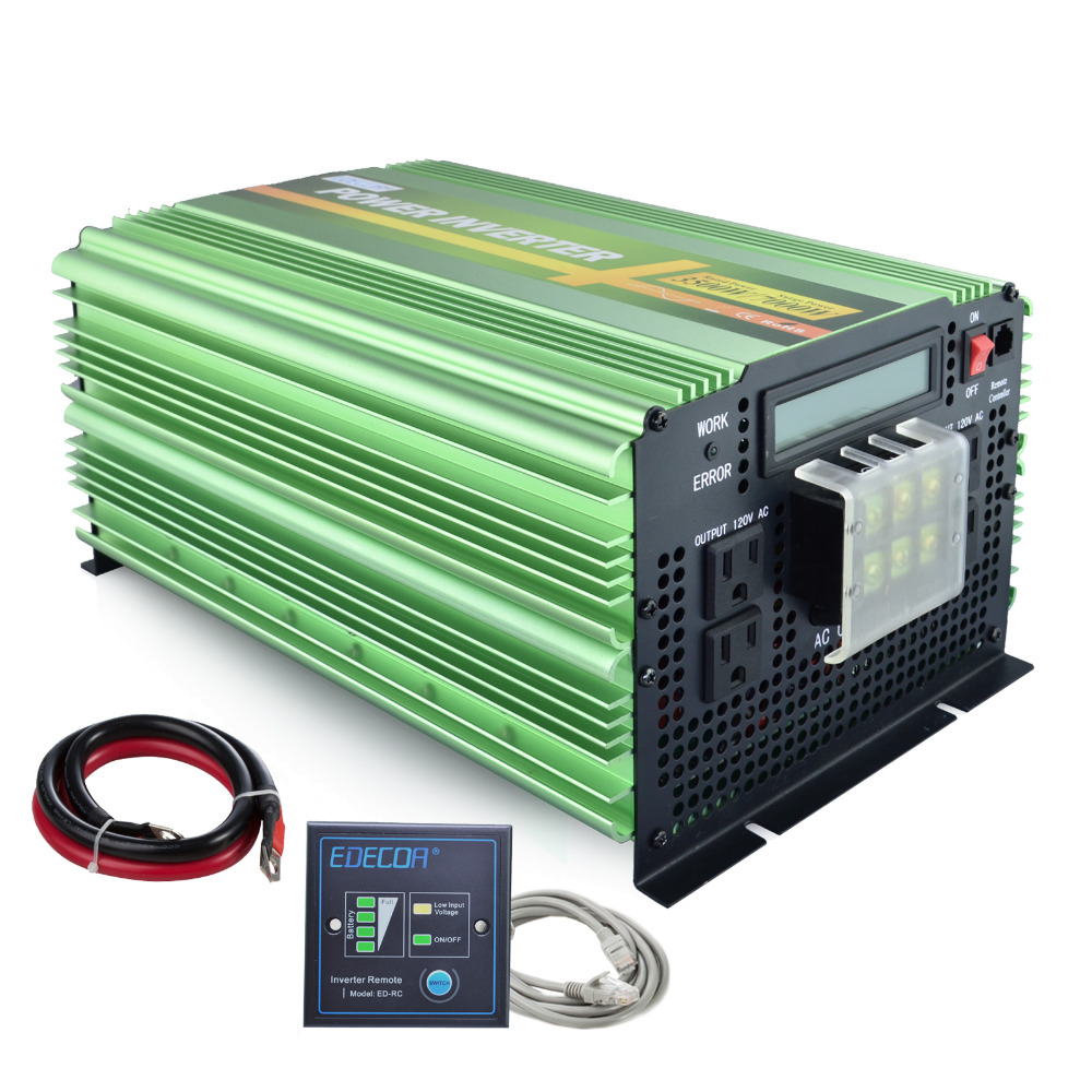 цена на 12V 110V 120V 3500W / 7000W peak pure sine wave power 60Hz solar inverter ac to dc power inverter with remote controller