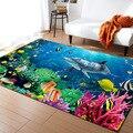 Teppich Für kinder Schlafzimmer große Größe 3D Delphin/shark/fisch Weichen Boden Teppich Meer Ozean Wohnzimmer Boden teppiche Rutschfeste Matte l18 Teppich    -