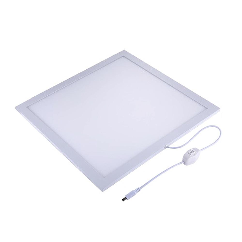 PULUZ 1200LM LED Photographie Sans Ombre Fond Lumière Lampe Panneau pour 40 cm Photo Studio Tente Tir Boîte et Pas Polaire gradation US Plug