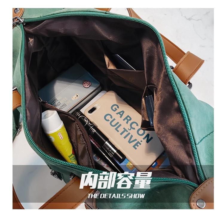Vintage Fashion Women Handbags Designer Woman Bag 2018 New High quality Mubuck Leather Big Tote bag Female Shoulder Bags 6