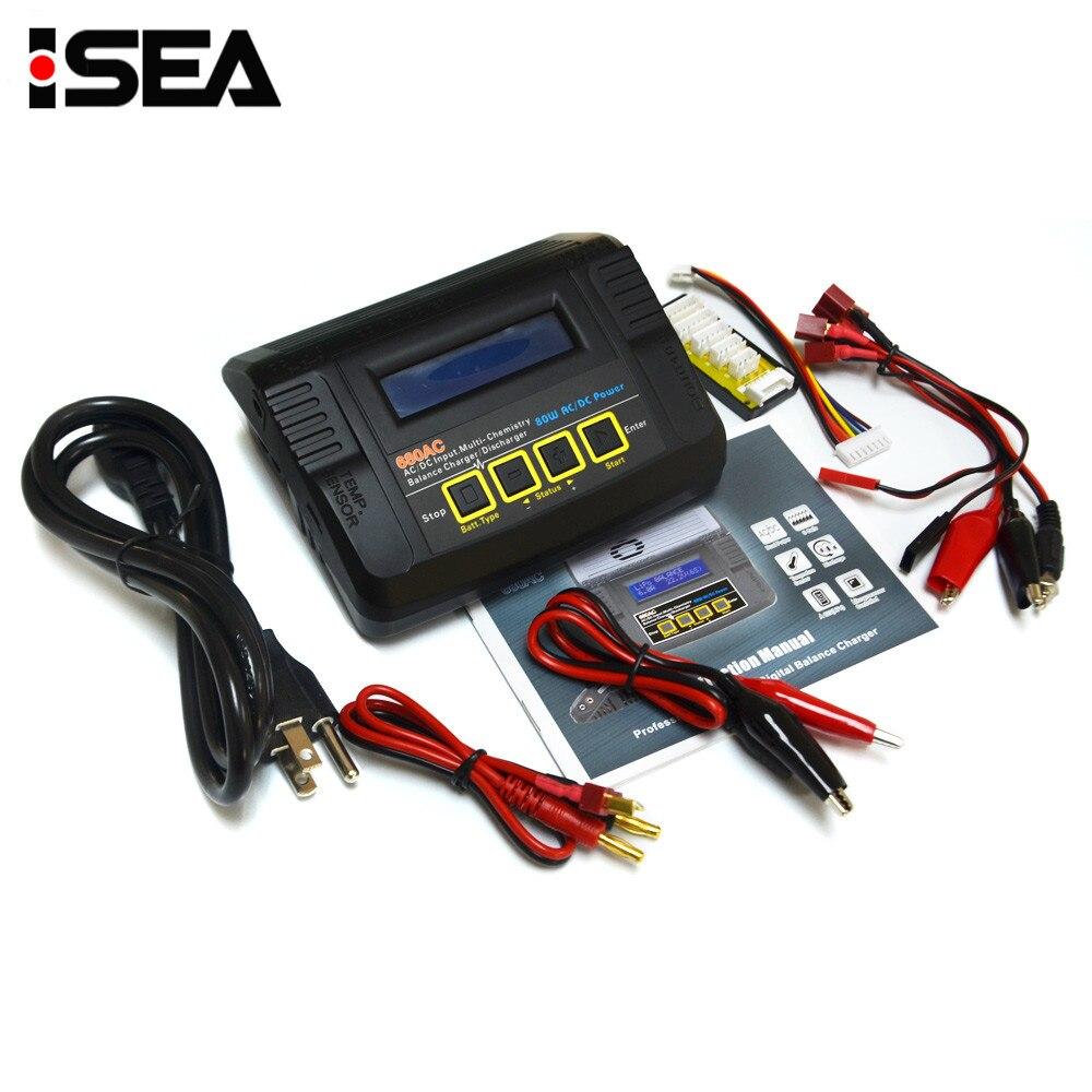 HTRC 680AC 80 Вт 6A AC/DC двойной мощность RC батарея баланс зарядное устройство Dis зарядное устройство для 1-6s LiPo/LiFe/литий-ионный аккумулятор зарядки
