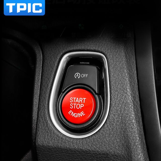 car engine start stop button red color replace upgrade car. Black Bedroom Furniture Sets. Home Design Ideas