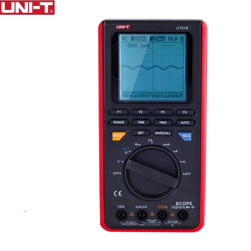 Aletler'ten Multimetreler'de UNI T UT81B Kapsam Dijital Multimetre Osiloskop elektrik araçlar Giriş Hassasiyeti Diyot USB Arayüzü title=