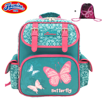 JASMINESTAR Children's School Bag Orthopedic Backpack School Girls Primary Student Grade 1 6 Butterfly School Bags For Girls