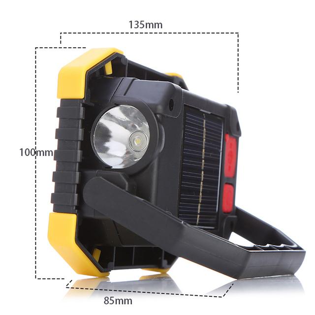 Solar Energy 180 Degrees Adjustable Portable Lanterns Built-in  Battery Light USB Rechargeable