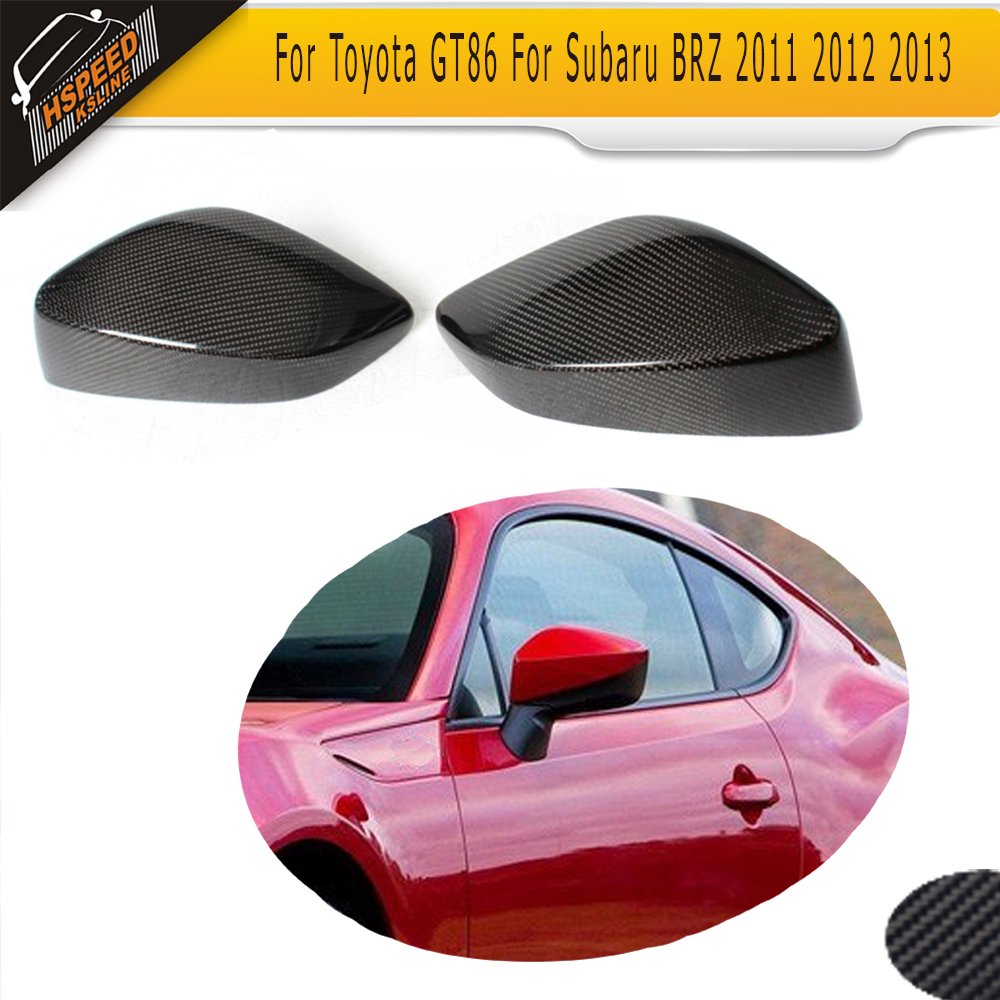 Carbon Fiber Add On Style Review Mirror Covers caps for Toyota GT86 11 13 For Subaru BRZ 2011 2012 2013