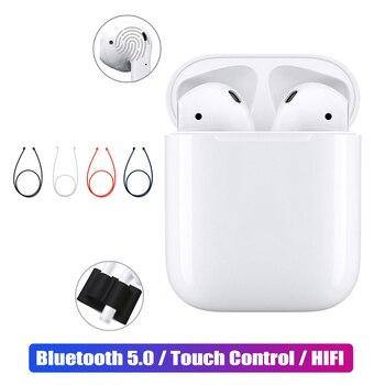 I12 TWS מגע Bluetooth אוזניות 5.0 פופ-ups מיני 3D סטריאו אוזניות + אנטי איבד מקרה ערכות עבור טלפון xiaomi אמיתי אלחוטי אוזניות