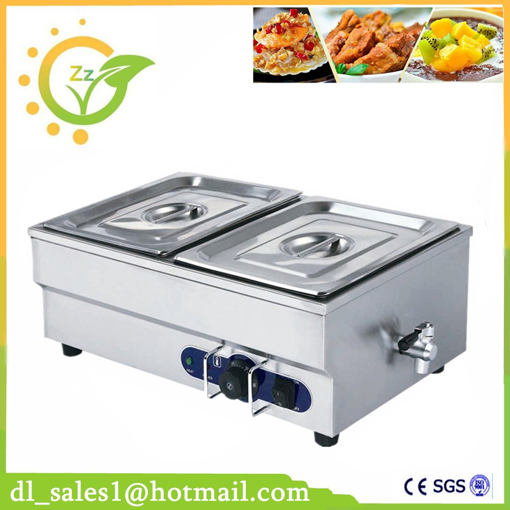 Kitchen Appliance Commercial 220V 2-pan Electric Bain Marie Food Warmer With Tap