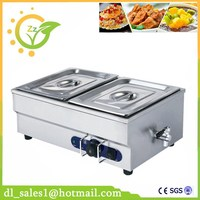 Kitchen Appliance Commercial 220V 2 pan Electric Bain Marie Food Warmer With Tap