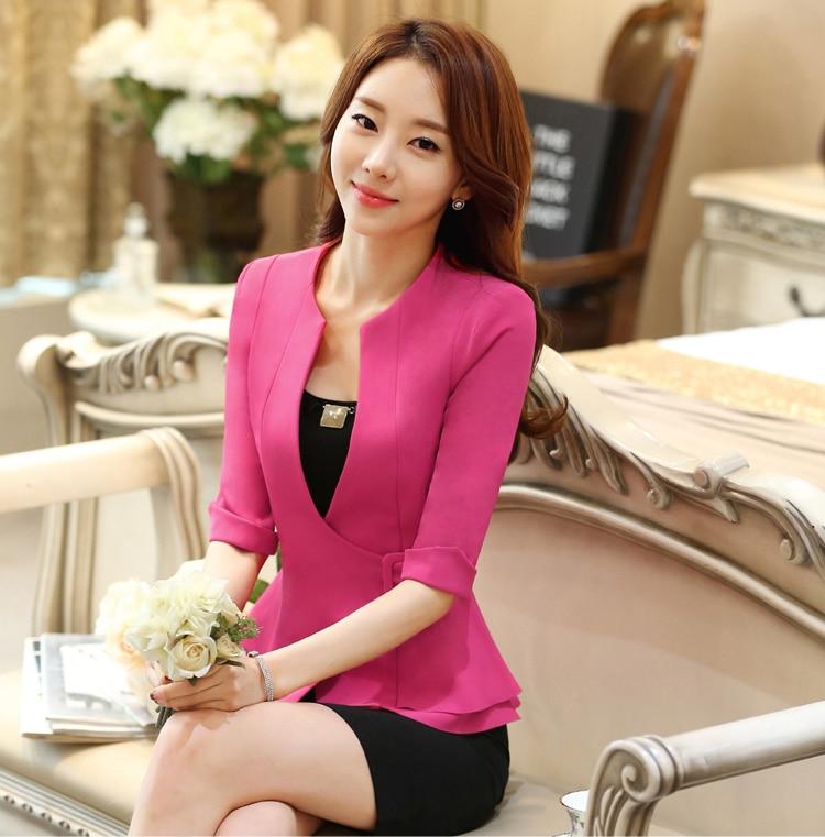 J43703 Black Color Business Suit Blazer Fashion Autumn Women Blazers and Jackets Work Office Lady Suit Slim Coat