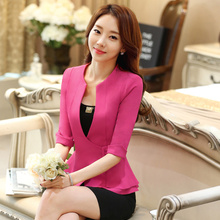 J43703 Black Color Business Suit Blazer Fashion Autumn Women