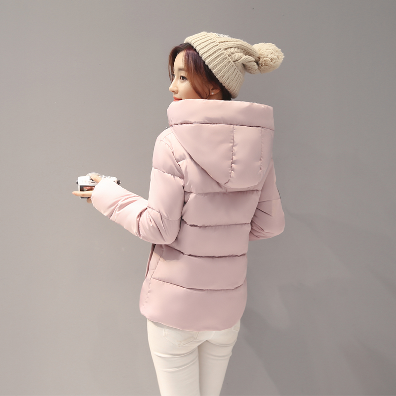 Female Cotton Short Slim New Winter Wind Color Code Cotton College Student Winter Coat Korean Women Winter Jacket Women