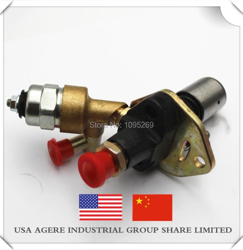 186F186FA Solenoid valve diesel generator fuel pump Air-cooled single-cylinder diesel engine Tiller 186