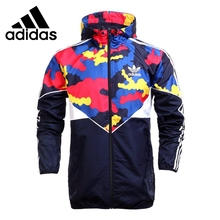 Original New Arrival Adidas Originals es wb colorful camo Men's jacket Hooded Sportswear(China)