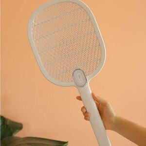 Image 4 - חדש Youpin 3 חיים יתושים חשמליים מחבט נטענת LED חשמלי חרקים באג יתושים Dispeller רוצח מחבט 3 שכבה נטו