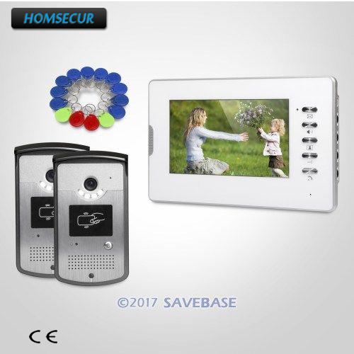 HOMSECUR 7inch Wired Video Door Entry Call System with IR Night Vision for Home Security