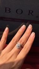 SRS001 Одежда высшего качества классические 2 карат Овальный NSCD синтетический камень кольца ste для женщин Прямая доставка