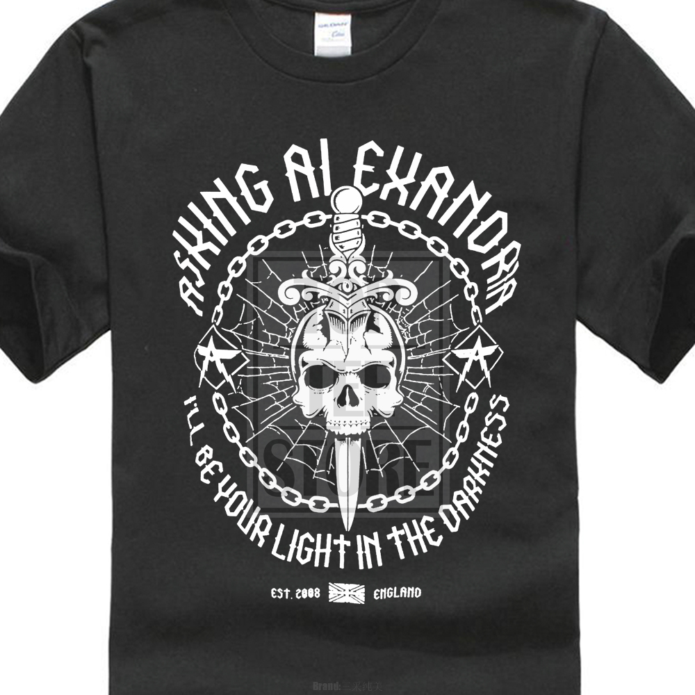 Personality Brand Men Fashion Asking Alexandria Light In The Darkness Printed Hipster Tops MenS Short Sleeve Tees ...