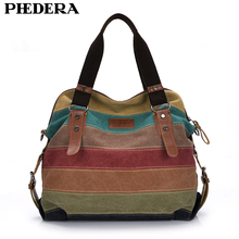 Fashion Canvas Bag Brand Women Handbags Patchwork Casual Women Shoulder Bags Female Messenger Bag Ladies 2017 Autumn Purse Pouch(China)