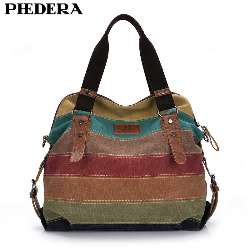 282f3abfccbd Fashion Canvas Bag Brand Women Handbag Patchwork Casual Women Shoulder Bags  Female Messenger Bag Ladies 2018
