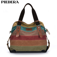 2015 Hot New Canvas Women Bag Casual Women Handbag Fashion Patchwork Striped Shoulder Bags Women Messenger