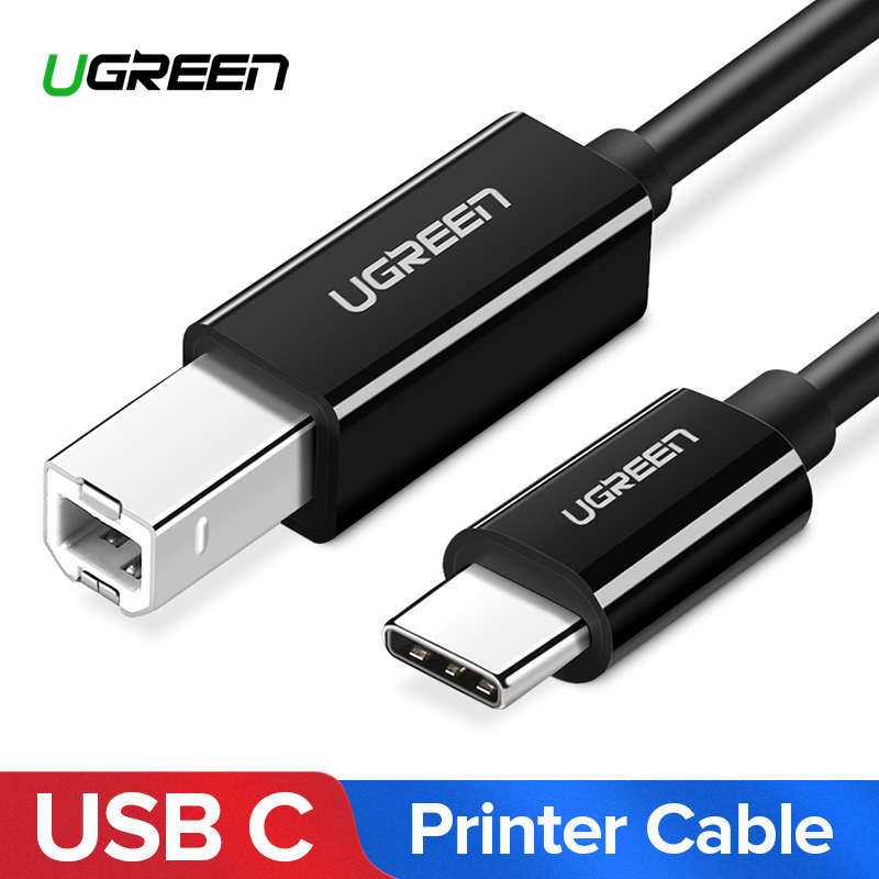 Ugreen USB C to USB Type B 2.0 Cable for New MacBook Pro HP Canon Brother Epson Dell Samsung Printer Type C Printer Scanner Cord цена