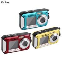 Karue h268 6 шт. 2017 1080 P Водонепроницаемый цифровой Камера DV 24mp Макс двойной Экран 16X ZOOM видеокамера 4 вида цветов DHL