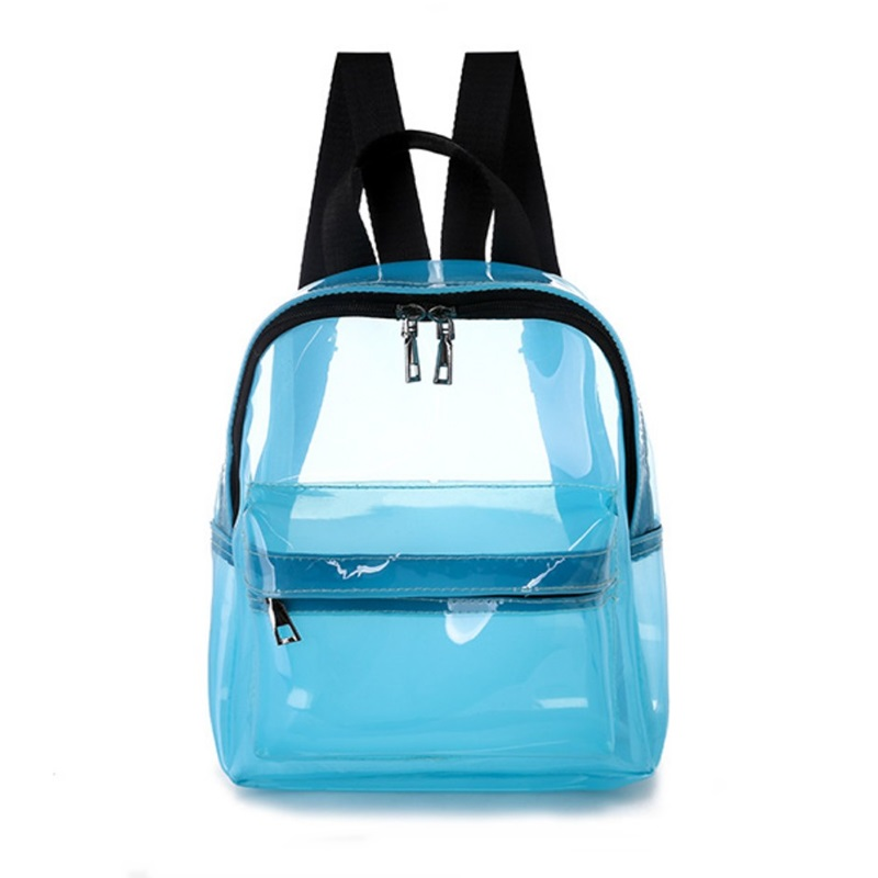 Transparent Pvc Backpack Women Bookbag Candy Clear Jelly Women Travel Backpack Purse Crystal Beach Bag Portable Women Jelly Bags