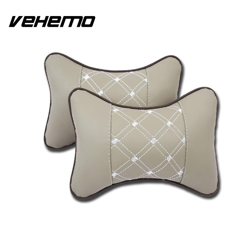 1Pcs PU Leather Car Seat Headrest Neck Pillow Auto Seat Cover Head Neck Rest Cushion Headrest Pad Travel Pillow Safety Useful