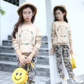 printed autumn clothing sets kids little teenage girl clothes suits long sleeve tops t shirts pants 2 pcs set children clothing