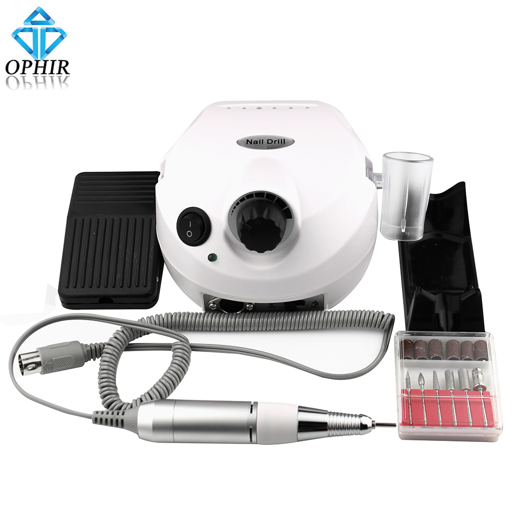 OPHIR Nail Art Tools 30000RPM Electric Nail Drill Machine Pedicure Manicure Drills Accessory Acrylic Nail File Drill Bits_KD143W white nail tools electric nail drill machine 30000rpm nail art equipment manicure kit nail file drill bit sanding band accessory