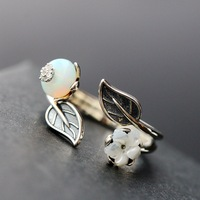 Ecoworld Ge Wholesale Silver Jewelry Set Natural Opal Thai Silver Rings Vintage 925 Sterling Silver Ring