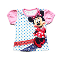 Children's T-shirts for girls Minnie cartoon kitty KT Cat casual short-sleeved T-shirt Polka Dot Kids clothes Free Shipping