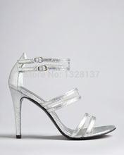 Fashion Solid Pink Women Sandal Thin High Heels open toe bling bling shoes women sandals high heels sexy women's sandals leather