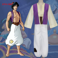 FREE SHIPPING hallowen genie costume pants for men aladdin costumes for adults Aladdin adult cosplay costumes
