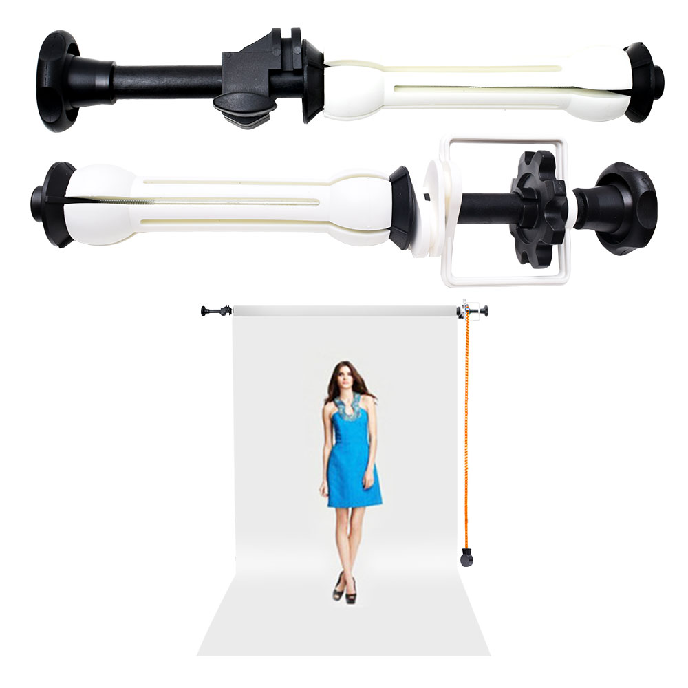 Photography Video NG-001 1 Roller Single Axis Wall Mount Manual Background Backdrop Support System photographic background support elevator ng 3w manual control studio background support manual three shaft background cd50
