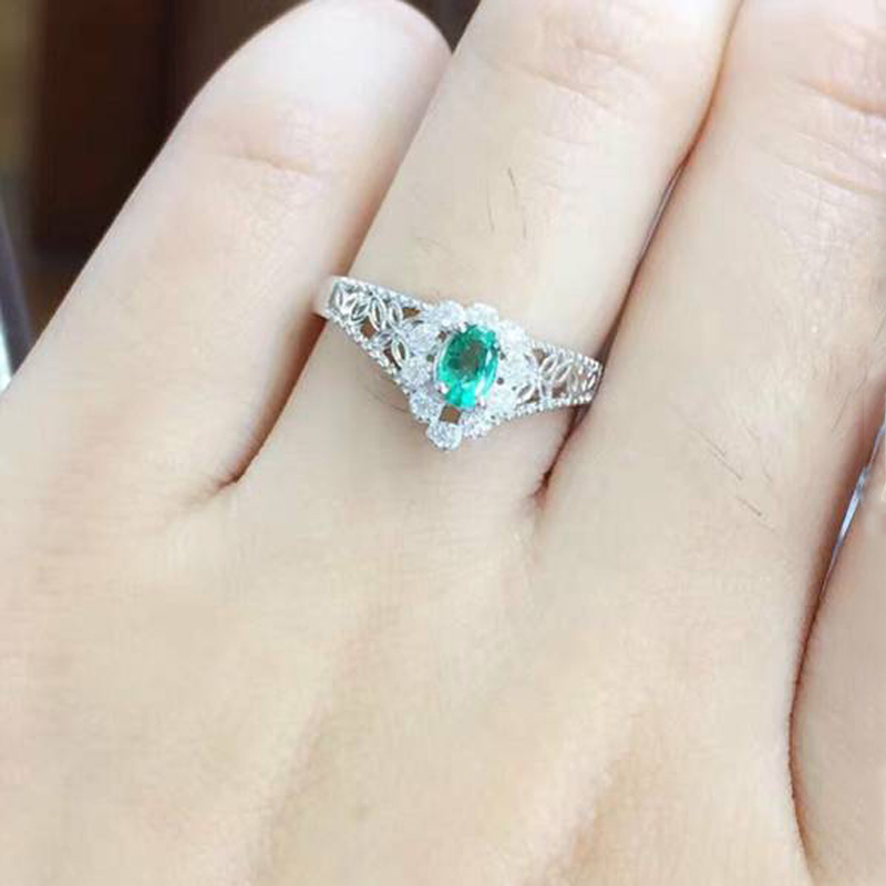 Anillos Jewelry Qi Xuan_Trendy Jewelry_Colombia Green Stone Fashion Rings_S925 Solid Silver Woman Rings_Factory Directly Sales 2017 anillos jewelry qi xuan