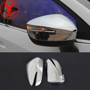 Chrom rückspiegel abdeckung Für Mazda cx5 cx-5 2013-2017 auto styling spiegel deckt auto deflektoren zubehör 2015 2016 YCSUNZ