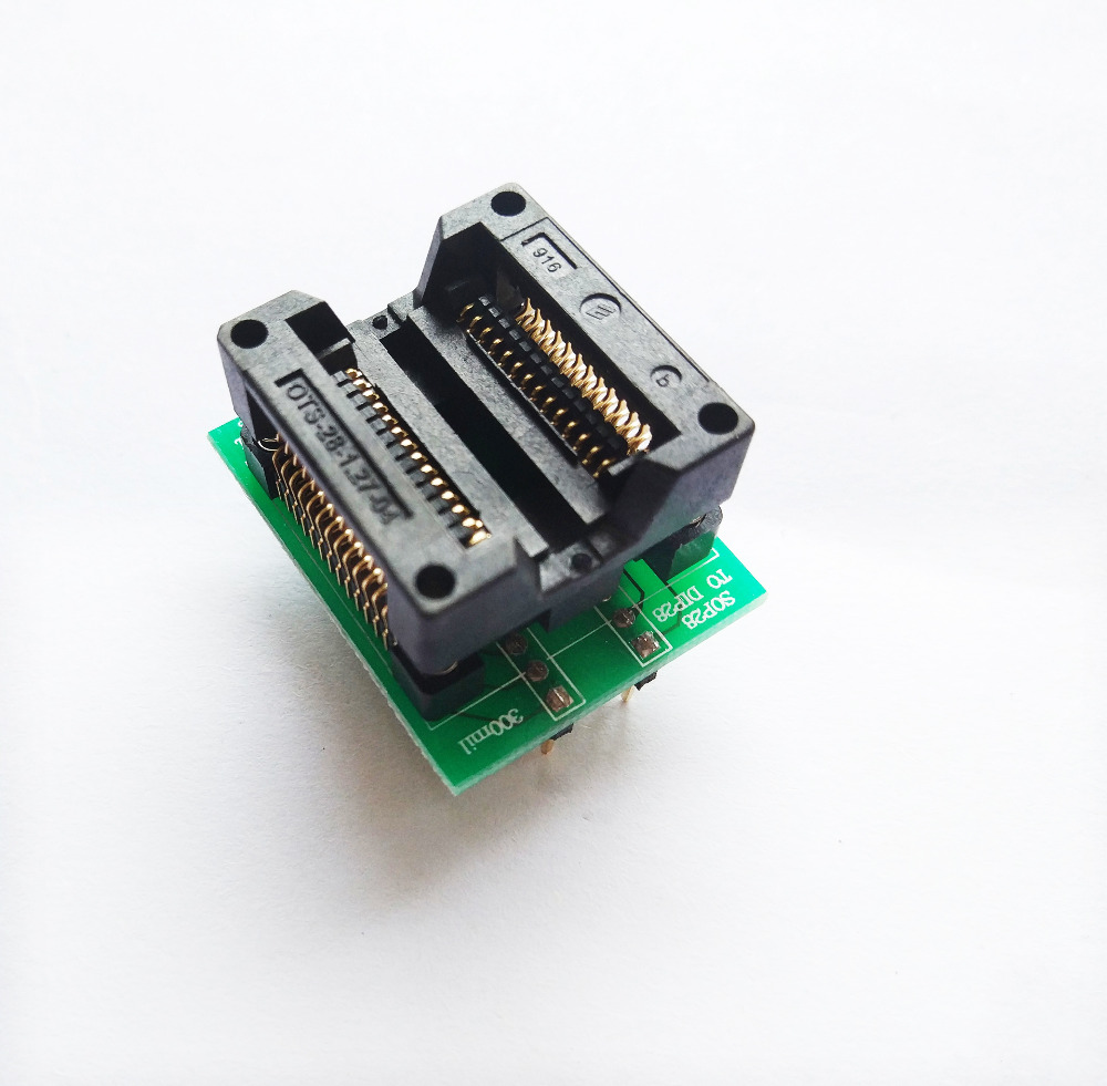 SOP28 to DIP28 Adapter Socket Wide 300mil IC SOIC28 to DIP28 SOP16 to DIP16 SOP20 to DIP20 IC programmer socket adapter