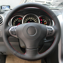 Free Shipping High Quality cowhide Top Layer Leather handmade Sewing Steering wheel covers protect For Suzuki Grand Vitara
