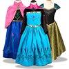 Baby Girls Dress Princess Anna Princess Elsa Costume Summer Dresses Girl Princess Elsa Dress for Birthday Party