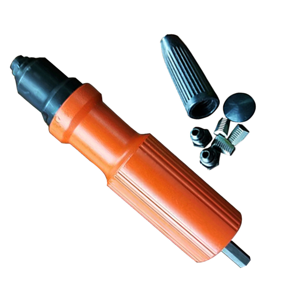 Electric Insert Rivet Nut Gun Pop Drill Tool Cordless Adaptor Nozzle Riveted Pneumatic Blind Adapter Riveting Tool