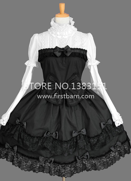 75994d155e0b9 US $78.26 |Black Vintage Sweet Lace Gothic Lolita Victorian Ball Gowns  Girls Short Party Dress Halloween Costumes For Women-in Dresses from  Women's ...