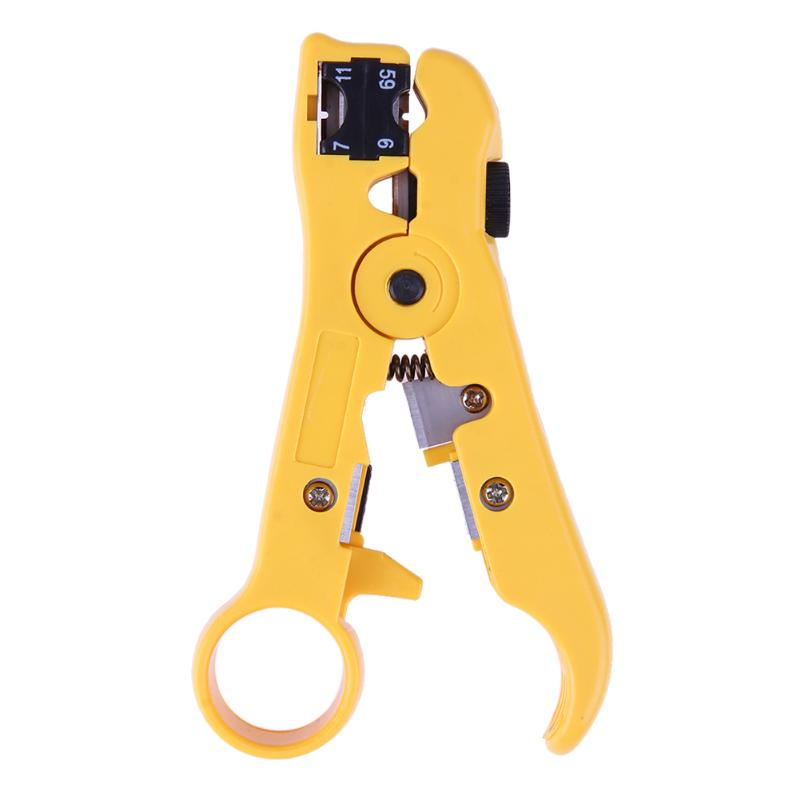 Stripper-Clamp Network 11/7-Telephone Crimping-Plier Coaxial-Cable for Flat-Wire Twisted-Pair title=