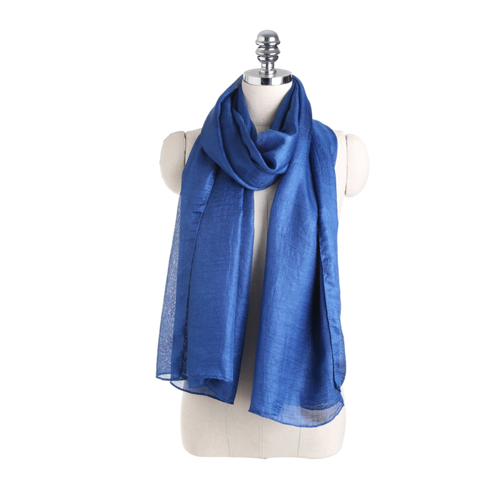 New Fashion Silk Scarf Women Designer Brand Scarf Winter Shawls Scarves Sjaal Solid Wraps Cachecol Echarpes Foulards Femme hijab