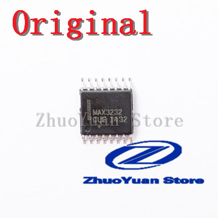 10PCS Brand New Original MAX3232 MAX3232CUE TSSOP-16 RS-232 Transceiver SMD IC Chip