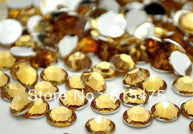 4mm LT.C.TOPAZ Color,SS16 crystal Resin rhinestones flatback,Free Shipping 50,000pcs/bag