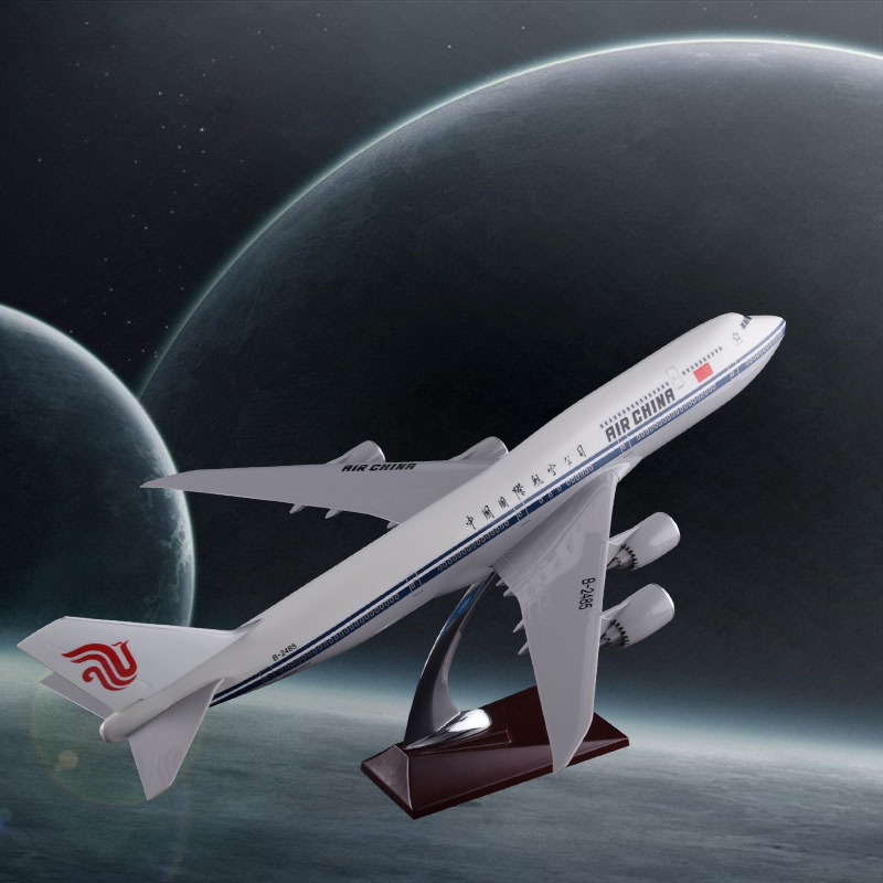 47cm Boeing 747-800 Resin Aircraft Model Air China Airlines Airplane Model B747-800 Airways International Airbus Aviation Model phoenix 11079 airlines b747 8f vq bvc silkway 1 400 commercial jetliners plane model hobby