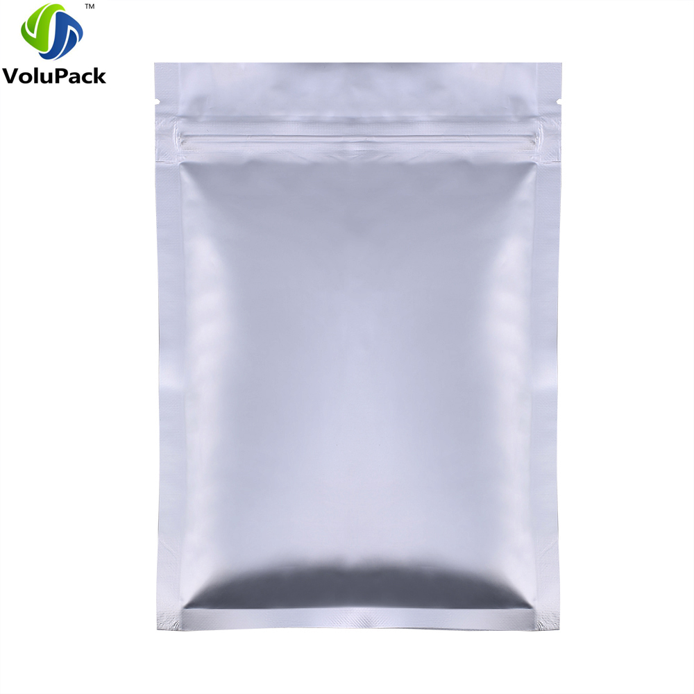 100pcs Lot 12cmx20cm Flat Base Heat Sealable Pouch Bag Zip Lock Pure Aluminium Foil For Food Coffee Packaging Storage In Bags From Home