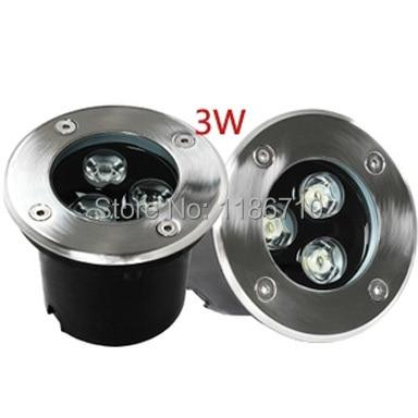 5pcs / lot LED begravede lys 3 w ledet underjordisk lys landskabslampe med firkantede vejlyslamper projekt til fods